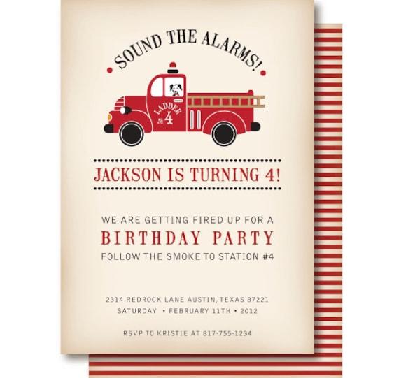 Fire Truck Invitation Template was good invitation design