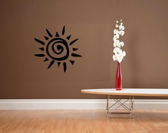 wall decal Abstract native sun decal decoration