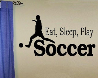 wall decal kids Eat sleep play Soccer decal kids decor nursery decal sport decal boy decal home decor decal for kids wall decal living room