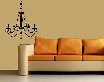 vinyl wall decal Chandelier design 1