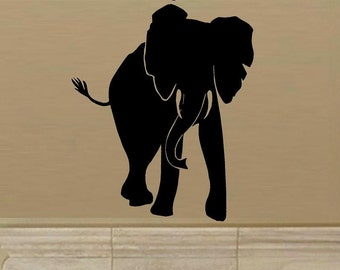 Elephant wall decal D1 africa safari elephant decal living room decal home decor nature outdoor animal decor bedroom decal vinyl decal decor