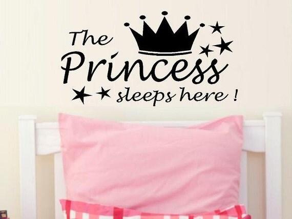 Princess Vinyl Decal Wall Sticker Words Lettering Nursery: Wall