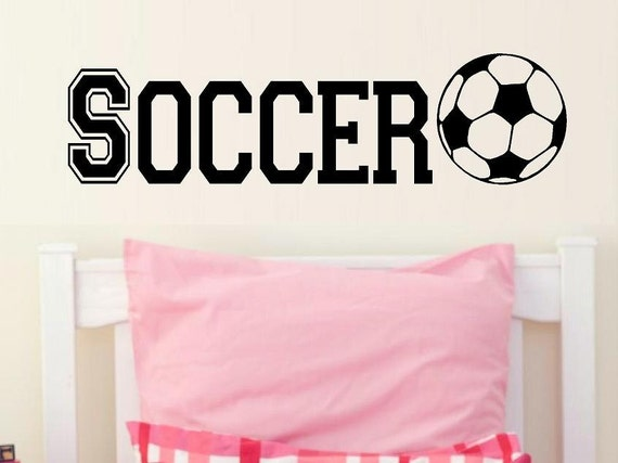 varsity Soccer decal wall decal kids kids decor nursery decal sport decal boy decal home decor decal men wall decal living room decal girls