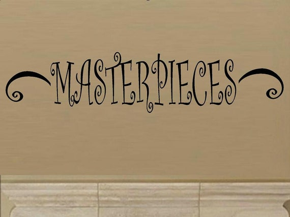 wall decal Masterpieces accent display childs drawings photos quote