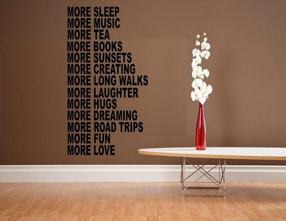 wall decal House rules More love quote