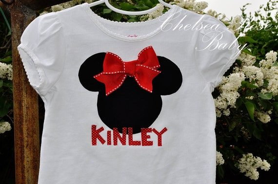 Personalized Boys Mickey Mouse Toddler Shirt or Girl Minnie Mouse Shirt, Disneyland, Disney Sibiling Shirts