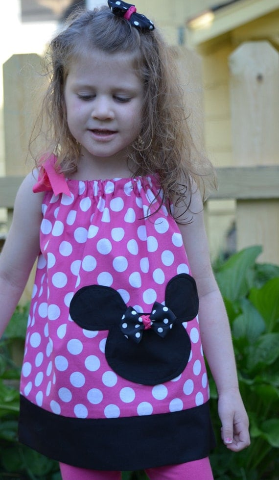 Minnie Mouse Pink Pillowcase Dress.  Inspired by our Love of Minnie