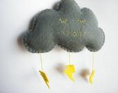 Sleepy Felt Storm Cloud Ready to Ship