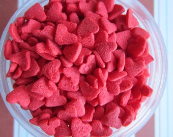 Red Heart Shaped Valentine Sprinkle Quin