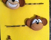 Monkey & Banana Bobby Pin Set
