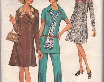 70s A-line Dress or Tunic & Pants Pattern Simplicity 9039 Size 20