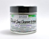 Exfoliating Herbal Clay Cleanser All SKIN TYPES - Aloe and Mango Fruit.