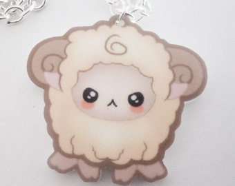 SALE - Lill Rammy Ram - Tomo Acrylic Kawaii Ram Necklace Charm