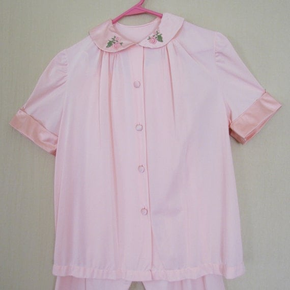 Vintage pink pajamas - small-to-medium size, 1960's