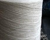 Organic Linen White Yarn Thread on cone 50 tex x 2 filament