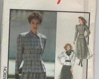 ON SALE - 1980s Style Sewing Pattern No 1458 for Womens Jacket and Skirt Size 12  Bust 34 inches, Uncut, Factory Folded