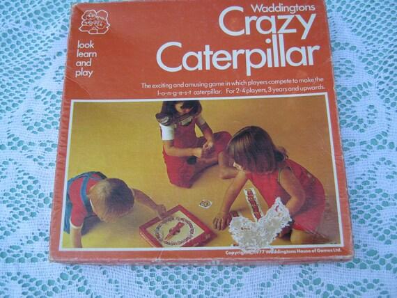 On Sale - 1970s Vintage Crazy Caterpillar Game for Children.