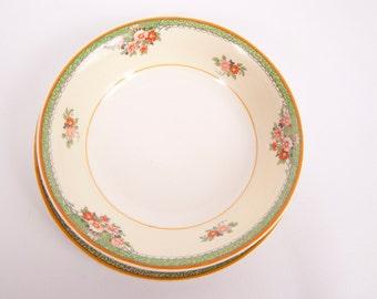 Vintage Berry Bowl and Saucer J G Meakin England SOL Backstamp Porcelain Fruit Dish Set of 2