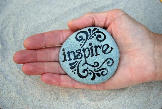 Inspire / Painted Rock / Sandi Pike Foundas/ Cape Cod