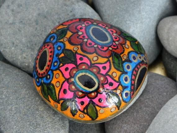 Moroccan Garden  /  Painted Rock / Sandi PIke Foundas / Cape Cod