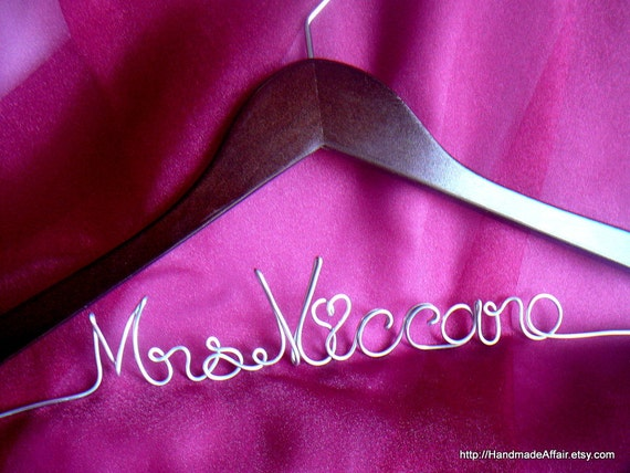 Wedding Gown Hanger, Wedding Day Photo Prop