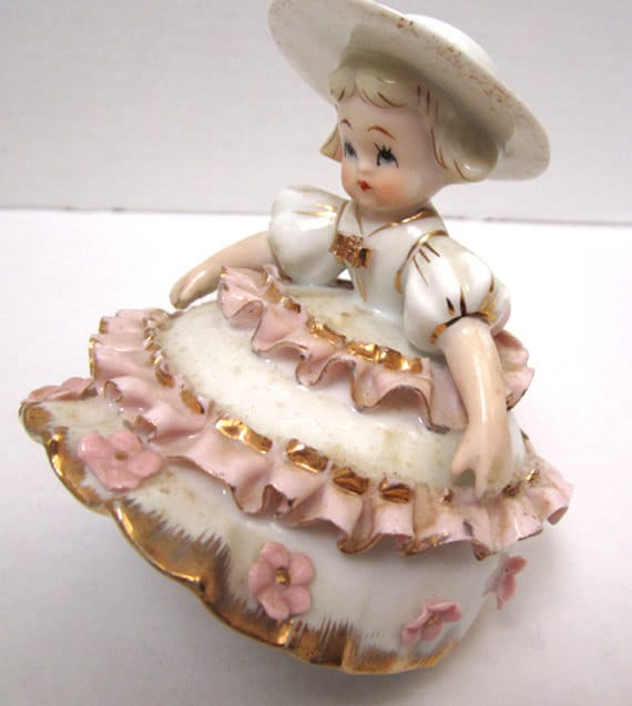 Reserved for EyDream Lefton China Bloomer Girl Figurine c1950