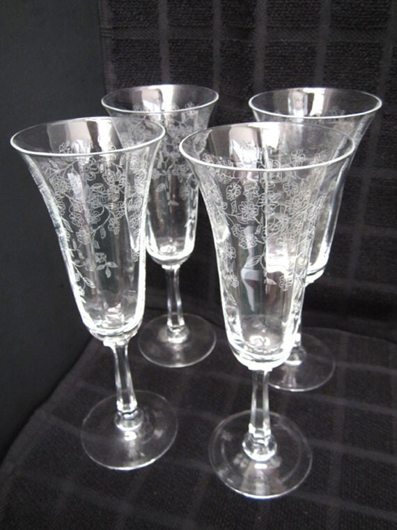 On Hold For Margo Wolter Lenox Crystal Garden Etched Champagne