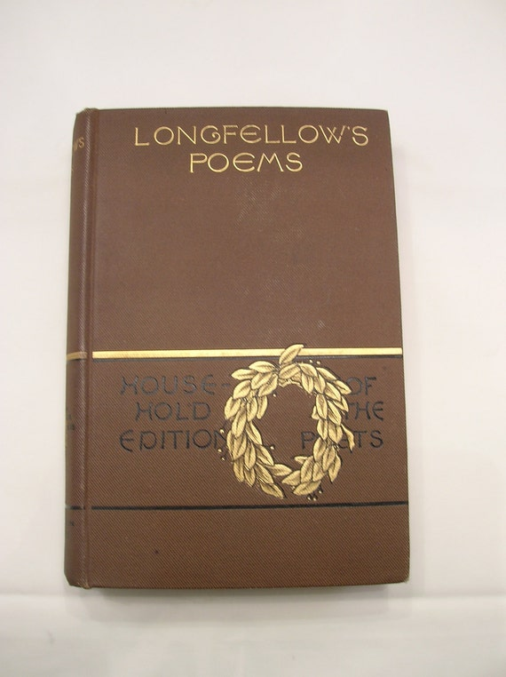 Longfellow's Poems Old Book Published by Houghton Mifflin Boston 1884