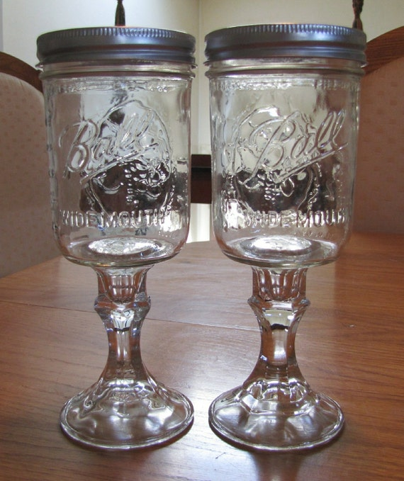 Multiples of 2 duck commander duck dynasty mason jar wine - Stemmed mason jars ...