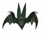 The Moth Bat - original acrylic painting