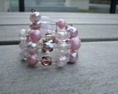 1950s Pink Bead Bracelet