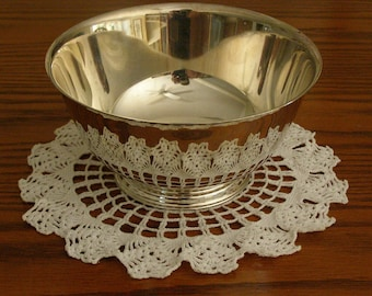 """Vintage """"Sons of Liberty Bowl"""" by Paul Revere (Patriot Silversmiths) Reproduction by Oneida Silversmiths"""