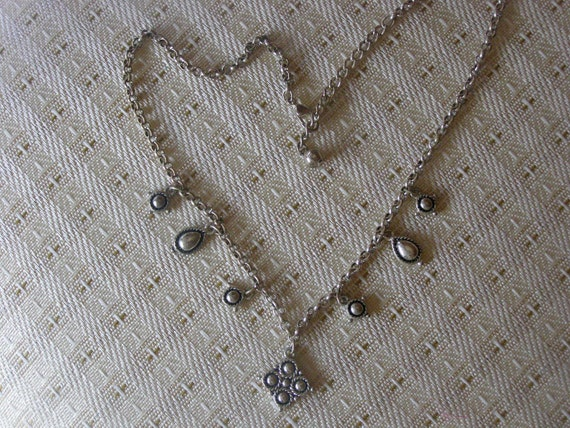 """Black & Silver Necklace 17"""""""