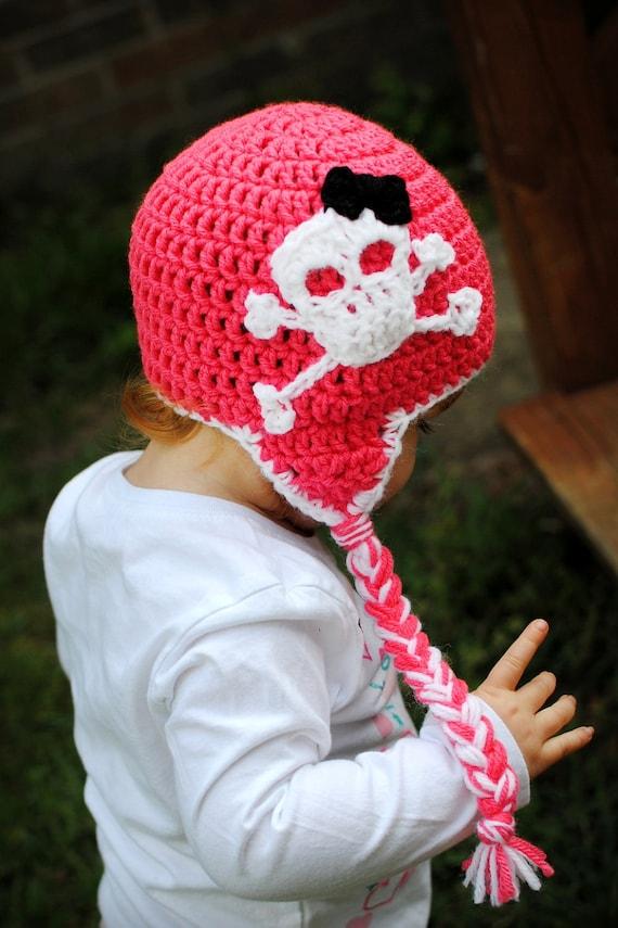 Boys or Girls Skull and Crossbones Hat
