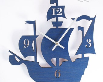 """The """"Dread Pirate Roberts"""" designer wall mounted clock from LeLuni"""