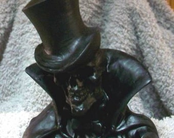 BLACK Beeswax Gentleman Death Candle Grim Reaper