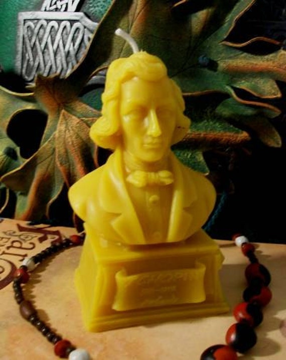 Chopin Bust Beeswax Candle Composer Series