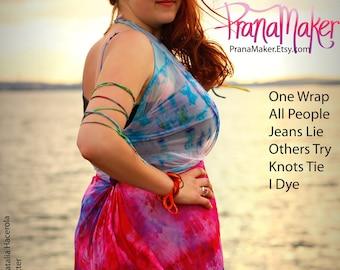 Wrap Dress: Tie All Styles Shown. PranaMaker Summer Vacation. Handpainted by Natalia Hacerola. Shot by Ariel Kassulke. Rocked by MaryJane.