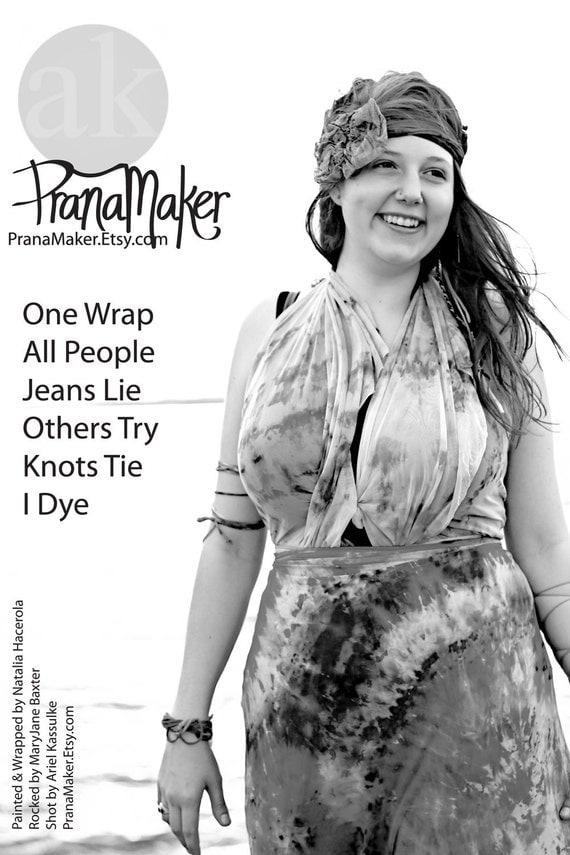 Wrap Dress: Tie All Styles Shown. PranaMaker Hardwater Rainbow. Handpainted by Natalia Hacerola. Shot by Ariel Kassulke. Rocked by MaryJane.
