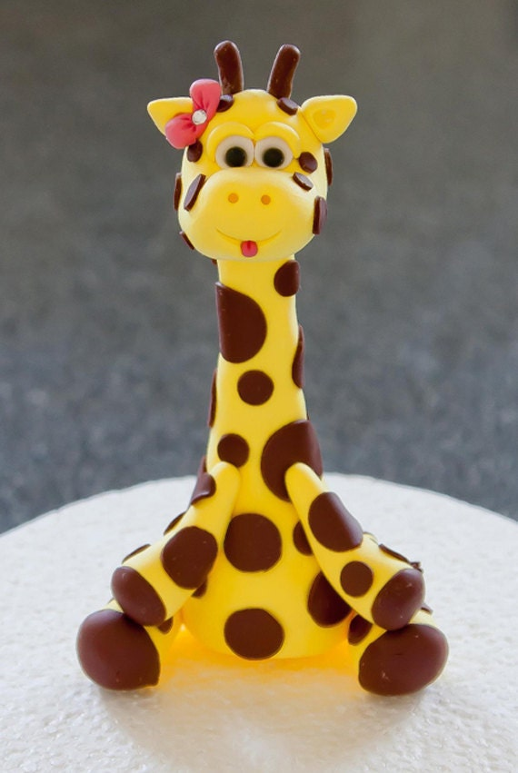 Goofy Little Giraffe Cake Topper
