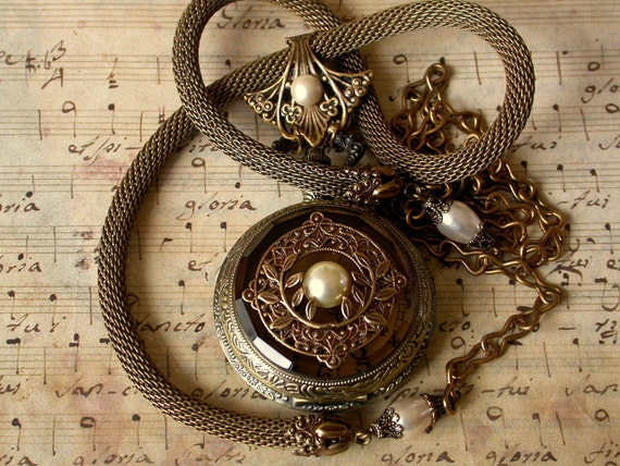 Victorian Pocket Watch Necklace Romantic Pocket Watch Pendant Women Pocket Watch Necklace Vintage Pocket Watch Pendant Victorian Necklace