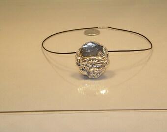Sterling Silver Seascape Pendant