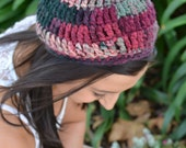 Berry Crochet Beanie