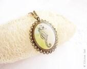 Seahorse vintage necklace