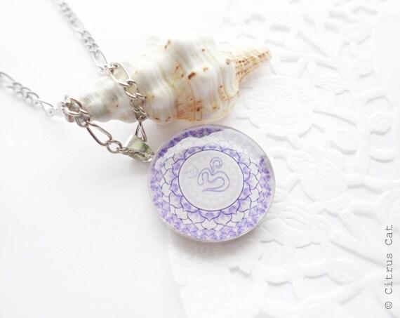 Om Mandala necklace - yoga jewelry