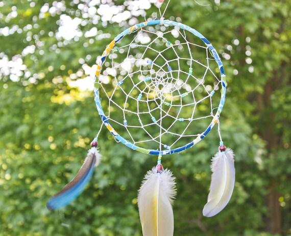 Dream Catcher - Sunflower dream catcher - Macaw Feathers dream catcher - boho dream catcher