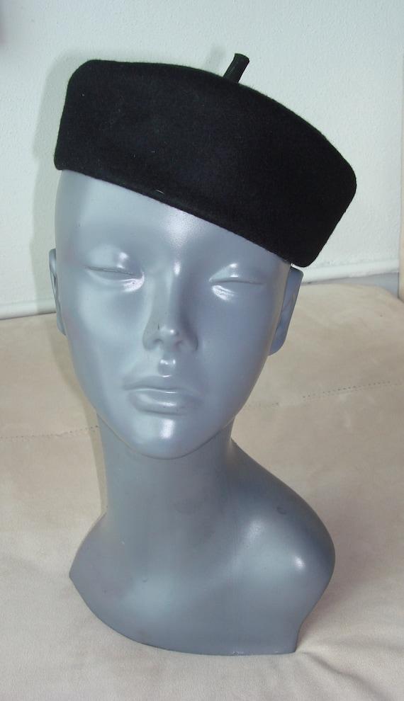 Vintage 1960s wool women Bibi French hat retro diameter 22 inches reserved for keryn dawer
