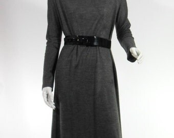 70s Gray Day Dress by Shannon Rodgers - lg