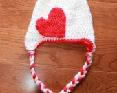 Heart Baby Hat - Made to Order - Valentine