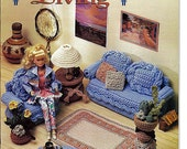 Barbie Furniture, Santa Fe Living, Annies Attic Crochet Furniture Pattern 543B